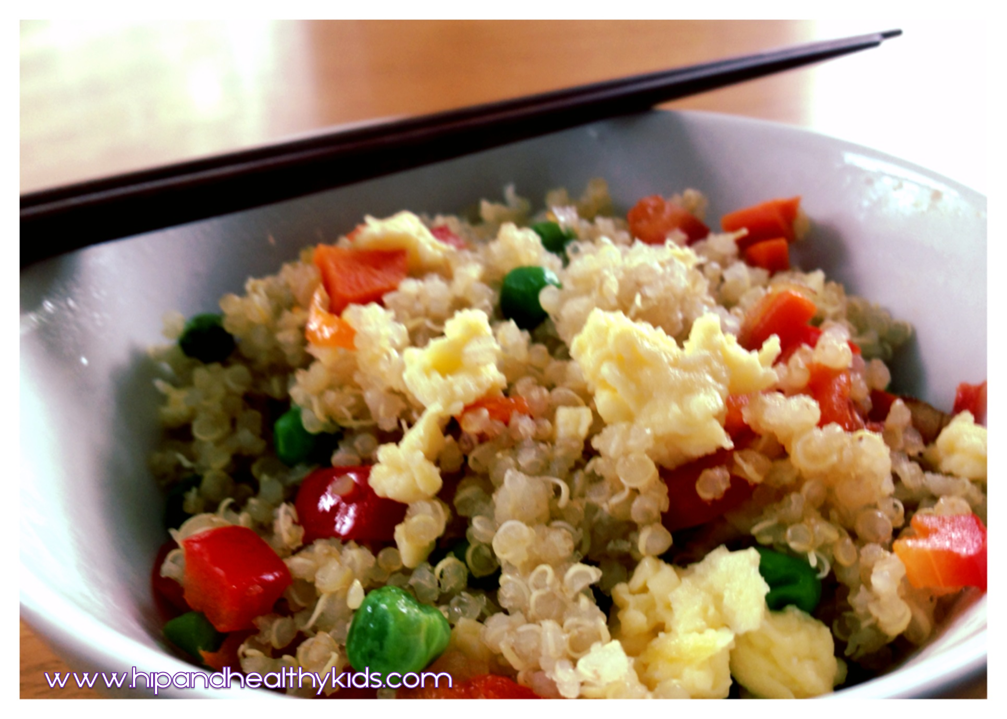 "Kid-friendly Quinoa ""Fried Rice"" ⋆ Hip & Healthy Kids"