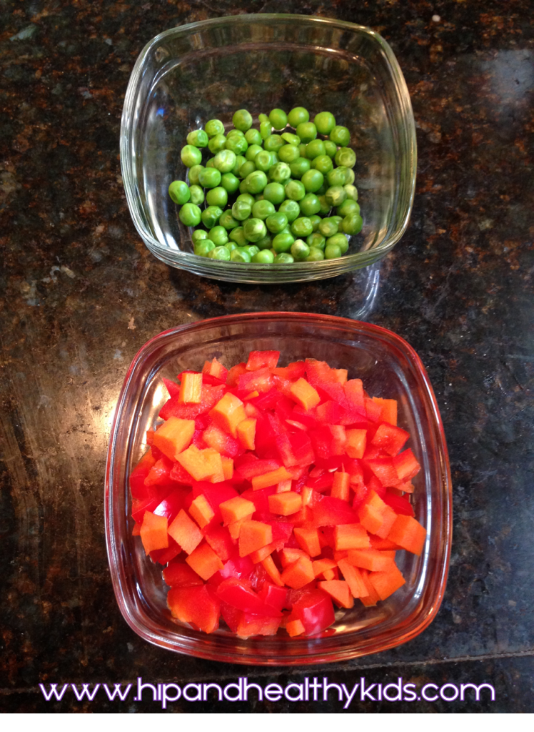 Peas Peppers and Carrots