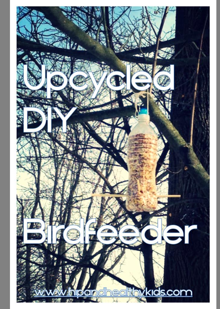 Upcycled DIY Birdfeeder - hipandhealthykids.com