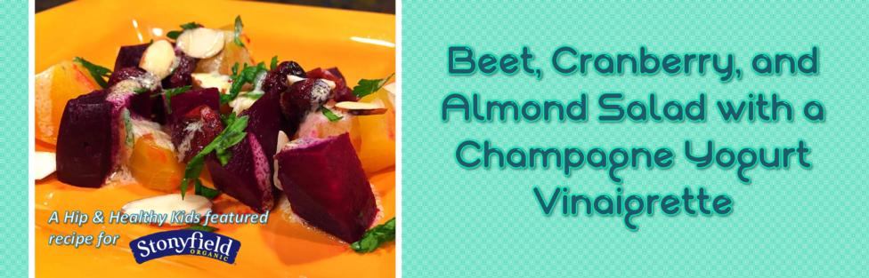 Beet, Cranberry, & Almond Salad with a Champagne Yogurt Vinaigrette