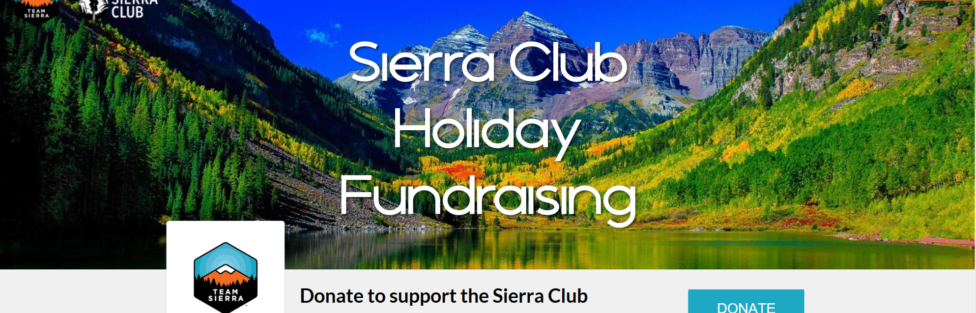 Sierra Club Holiday Fundraising